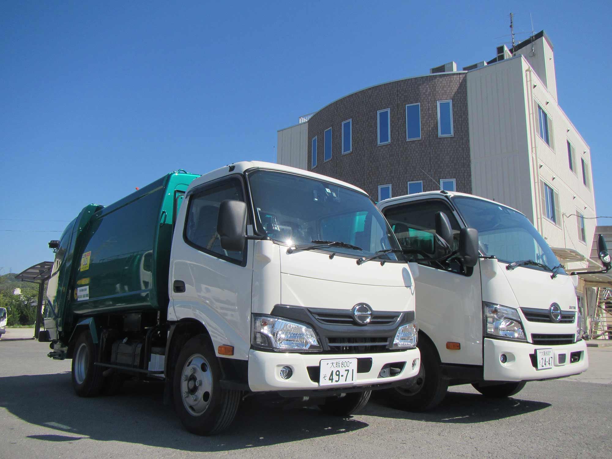 一般廃棄物収集運搬業の車両