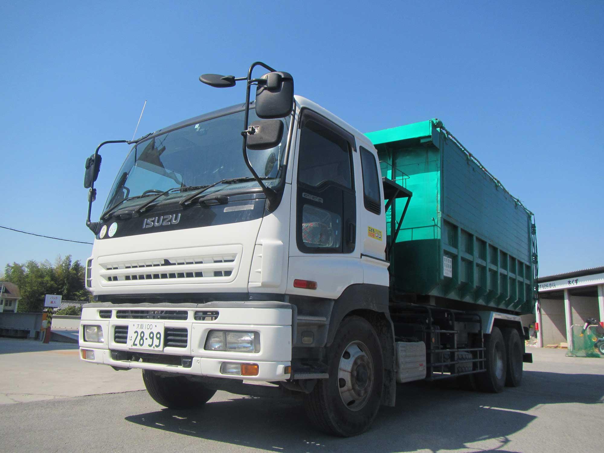 産業廃棄物収集運搬事業の車両